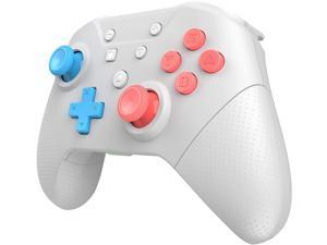GCHT Wireless Switch Pro Controller, Game Controller for Switch Remote Gamepad with Joystick, Vibration Turbo, Wake Up, NFC, Gyro Axis,Dual Shock (White)