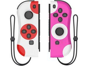 GCHT Wireless Controller for Nintendo Joycon Switch, Macro Button/Turbo/Vibration/Motion Functions, L/R Switch Controller Joypad, Nintendo Switch Controllers for Joy Con (Red and Blue)