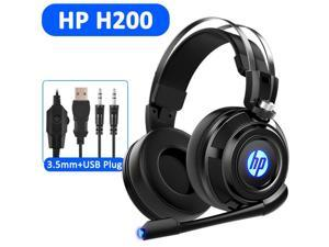 HP H200 Wired Stereo Gaming Headset with mic, for PS4, Xbox One, Nintendo Switch, PC, Mac, Laptop, Over Ear Headphones PS4 Headset Xbox One Headset and LED Light