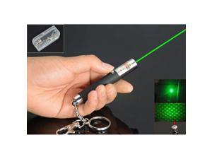 High Power Mini 532nm 5mW 2in1 Dot or Star Green Laser Pointer Light Pen AAA Battery with Keychain Key Ring
