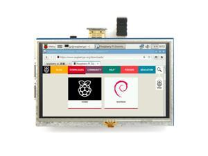 """Hot Selling 5 inch 800x480 Resistive Touch LCD Screen 5"""" Display HDMI-Compatible for Raspberry Pi 4 PI 3 PI 2 / B + XPT2046"""
