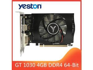 Yeston Video Card GT1030 4G/64bit/DDR4 Gaming Desktop computer PC Video Graphics support DVI/HDMI-compatible 1152/1380MHz 14nm