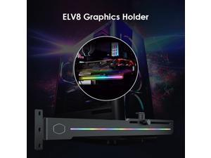 Cooler Master GPU Holder ELV8 3-Pin Addressable RGB Vertical Graphic Card Stand for Household Computer Safety Parts