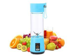 380ML Portable Mini Automatic Juicer USB Rechargeable Electric Fruit Blender Wireless Household Multifunction Blender for Juice and Smoothies, Six Blades