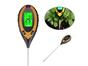 Portable 4 in 1 PH Moisture Light Temp Soil Tester Tool Sunlight Temperature Test Meter for Garden Plant Lawns