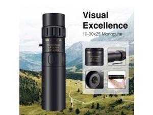 4K 10-30X25mm Super Telephoto Zoom Monocular Telescope With Phone Clip Tripod Set for Travel Bird Photograph Watching Boating Horse Racing Outdoor
