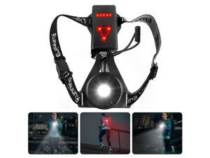 Chest LED Lamp Running Light High Quality Outdoor Sport Lamps USB Rechargeable Bicycle Safety Lights Portable, Black