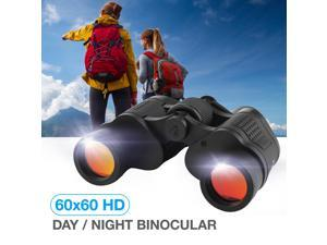 60 x 60 Large View Binoculars Full Size HD Telescope with Night Vision for Outdoor Travel Sightseeing Hunting, Black