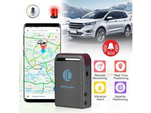 Mini Magnetic GPS Tracker Real Time Tracking Multifunctional Locator for Vehicles Car Trucks Anti Lost, Black