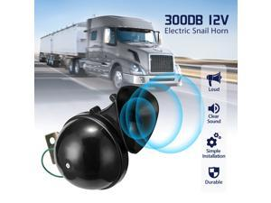 12V 300dB Car Snail Horn Megaphone Motorcycle Accessories Waterproof Horns of Automobile Yacht RV, Black
