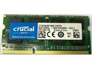 Crucial 16GB (8GB x 2) CT102464BF160B.C16FPD DDR3L-1600 SODIMM 1.35V CL11 204PIN Laptop