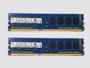 Hynix HMT451U6AFR8C-PB 8GB (2X4GB) DDR3 1600MHz Desktop PC RAM PC3-12800U Memory 240pin 1Rx8 DIMM