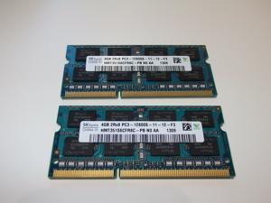 Hynix 2X4GB (2Rx8) HMT351S6CFR8C-PB  N0 AA, DDR3 PC3-12800S-11-12-F3 SODIMM Notebook/Laptop Memory
