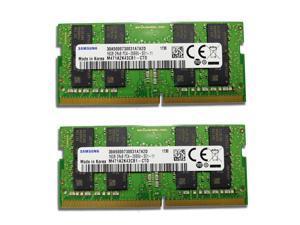 Samsung 32GB (2X16G) 260pin DDR4 SO-DIMM 2Rx8 DDR4 2666MHz (PC4 21300) 1.2V CL11 Laptop Ram Memory M471A2K43CB1-CTD