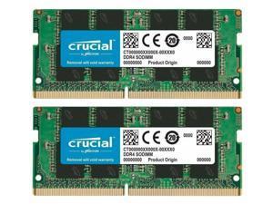 Crucial 32GB (2X16GB) DDR4-2666 SODIMM CP4-21300 Laptop Memory RAM CL19  CT16G4SFRA266