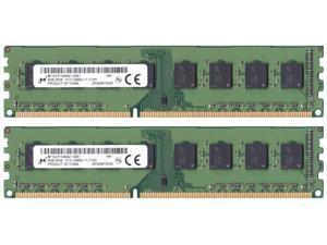 Micron 16 GB (2 x 8 GB) DDR3-1600 PC3-12800 1.5V MT16JTF1G64AZ-1G6E1 Desktop PC Ram Memory