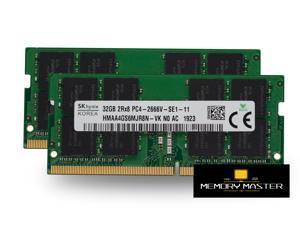 SK hynix 64GB(32GB x2) DDR4 2666MHZ HMAA4GS6MJR8N-VK SODIMM Laptop RAM 260pin 2RX8 PC4