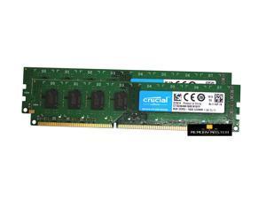 Crucial 16GB (8GB x2) DDR3 1600mhz PC3 CT102464BA160B.M16FP UDIMM Desktop Ram Memory 240p 1.5v CL11