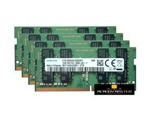 Samsung 64GB(4X16GB) M471A2K43DB1-CTD DDR4 PC4-21300, 2666MHZ, 260 PIN SODIMM 1.2V CL 19 laptop ram memory