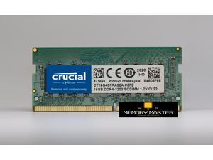 16GB (1 x 16GB) Crucial DDR4 3200MHz RAM PC4-25600 CL22 1.2V SODIMM Laptop Memory  CT16G4SFRA32A.C8FE