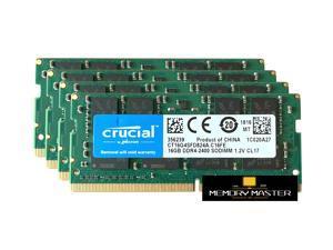 Crucial 64GB(4X16GB) CT16G4SFD824A.C16FE DDR4 2400 MHz RAM PC 19200 CL17 Laptop Memory NEW 260-PIN