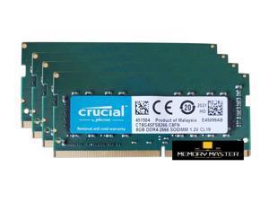 Crucial 32GB(4X8GB) DDR4 2666 LAPTOP RAM PC4 21300 SODIMM Laptop Memory 260-PIN CL19 CT8G4SFS8266.C8FN