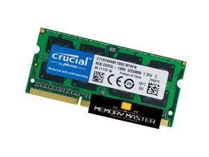 crucial Laptop Ram 8GB x1 DDR3-1866 RAM PC3-14900 CT102464BF186D.M16FN SODIMM Memory 204pin 1.35V