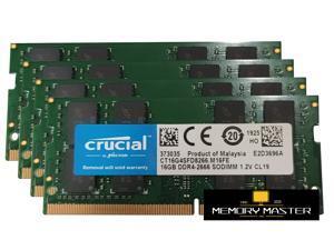 Crucial 64GB(4X16GB) DDR4-2666 SODIMM CP4-21300 Laptop Memory CL19 1.2V 260-PIN CT16G4SFD8266.M16FE
