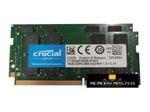 Crucial 32GB(2X16GB) DDR4-2666 SODIMM CP4-21300 Laptop Memory CL19 1.2V 260-PIN CT16G4SFD8266.M16FE
