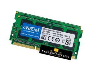crucial Laptop Ram 16GB (8GB x2) DDR3-1866 RAM PC3-14900 CT102464BF186D.M16FN SODIMM Memory 204pin 1.35V