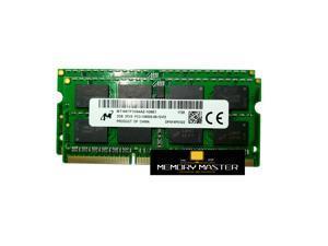 Micron 4GB(2X2GB) DDR3-1333 SODIMM PC3-10600S 1.5V 204 Pin  Laptop Memory RAM 1 RANK MT16KTF1G64AZ-1G6E1