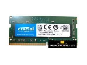 Crucial 8GB(1X8GB)  DDR4 3200 LAPTOP RAM PC4 25600 SODIMM Laptop Memory 260-PIN CL22 CT8G4SFS632A.M4FE