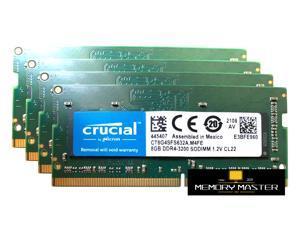 Crucial 32GB(4X8 gb) DDR4 3200 LAPTOP RAM PC4 25600 SODIMM Laptop Memory 260-PIN CL22 CT8G4SFS632A.M4FE