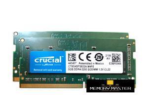 Crucial 16GB(2X8GB) DDR4 3200 LAPTOP RAM PC4 25600 SODIMM Laptop Memory 260-PIN CL22 CT8G4SFS632A.M4FE
