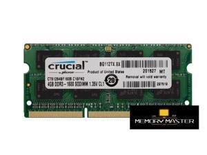 Crucial 4GB x1 DDRL 1600mhz 1.35v CT51264BF160B.C16FN2 SODIMM CL11 Laptop ram Memory