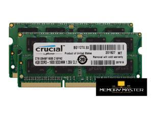 Crucial 8GB (4GB x2) DDRL 1600mhz 1.35v CT51264BF160B.C16FN2 SODIMM CL11 Laptop ram Memory