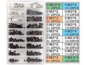 Universal laptop and hard drive M.2 SSD laptop screw set PC M2 M3 M2.5 screw bracket, 355 pieces