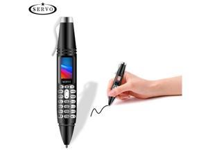 """SERVO K07 Mobile phone Caneta mini Celular 0.96 """"Tela Minscula GSM Dual SIM Cmera Lanterna Bluetooth Discador Telefones Celulares com Gravao caneta Silver/Black"""