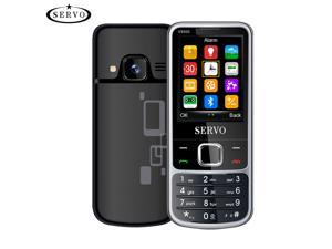 SERVO V9500 4 SIM cards 4 standby Cell phone Speed dial numbers One key recorder Magic Voice Mobile Phones comes with 23  classic games(Black)
