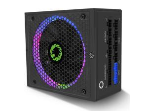 GAMEMAX Power Supply 850W Fully Modular 80+ Gold Certified with Addressable RGB Light Mode, RGB-850