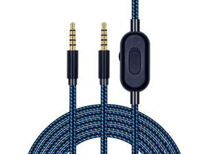 Replacement Cable for Astro A10 A30 A40 A50 Headphones, Cable with Volume Control and Inline Mute Function, 6.5ft or 2.0m, Durable Braided Cable, Compatible with Xbox One Play Station 4 PS4 via 3.5mm