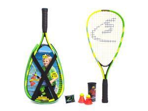 Speedminton S-Junior Set - Original Speed Badminton/crossminton Children's Set Includes 2 Kids Rackets, 2 Fun Speeder and Bag
