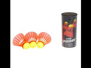 Speedminton Fun Speeder Tube (3 Pack) Birdies for Outdoor Games Speed Badminton/Crossminton