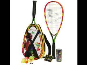 Speedminton S600 Badminton Set - Original Speed Badminton / Crossminton Starter Set including 2 rackets, 3 Speeder, Speedlights, Bag