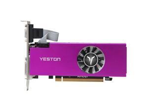 Yeston RX550-4G D5 LP Graphics Card Radeon Chill 4GB Memory GDDR5 128Bit 6000MHz VGA + + DVI-D GPU