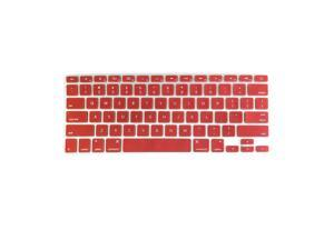 TPU Keyboard Cover Dustproof Keyboard Protective Film Compatible with Apple MacBook Air 13.3 inch A1466/A1369 Dark Red