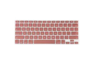 TPU Keyboard Cover Dustproof Keyboard Protective Film Compatible with Apple MacBook Air 13.3 inch A1466/A1369 Light Red