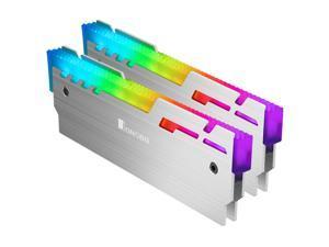 JONSBO NC-3 Desktop Memory Heatsink Cooler Shell 5V ARGB Light 2pcs Magnalium Heat Sink Cooling Vest
