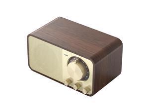 JY-66 Wooden Wireless BT5.0 Speaker Retro Classic Soundbox Super Bass Subwoofer FM Radio Support TF U Disk AUX IN Music Playback