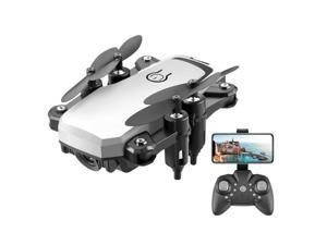 LF606 2.4G RC Drone with Camera 4K WiFi FPV Mini Drone for Kids Beginner Altitude Holding Headless Mode Quadcopter with Portable Bag White